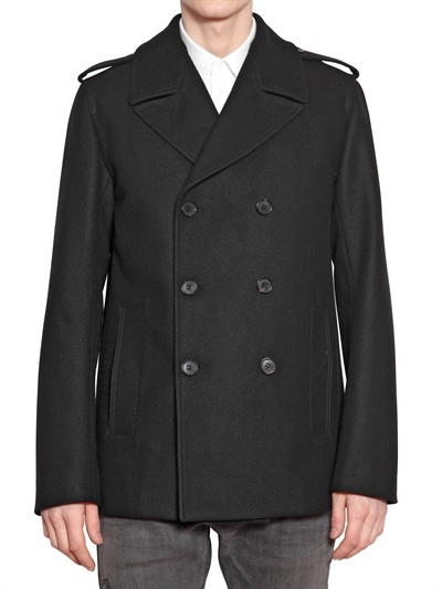 Christian Dior Double Breasted Wool Cloth Peacoat