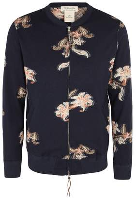 Remi Relief Floral-jacquard Wool Blend Cardigan