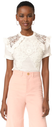 Zimmermann Lace Tee $375 thestylecure.com