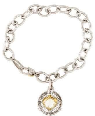 Judith Ripka Canary Crystal & Diamond Athena Charm Bracelet