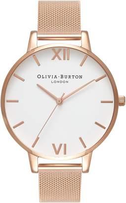 Olivia Burton 'Big Dial' Mesh Strap Watch, 38mm