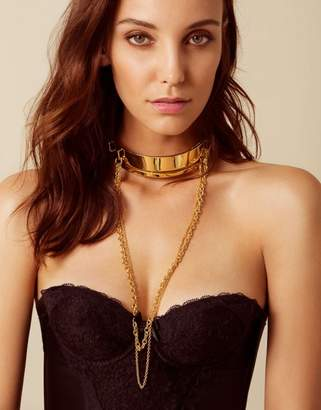 Agent Provocateur Jocasta Choker In Gold With Draped Chains