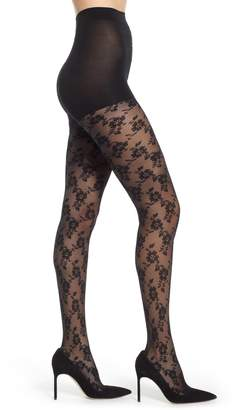 DKNY Floral Lace Sheer Tights
