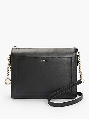 45641f5f9e83 at John Lewis and Partners · DKNY Bryant Sutton Medium Leather Zip Top Cross  Body Bag