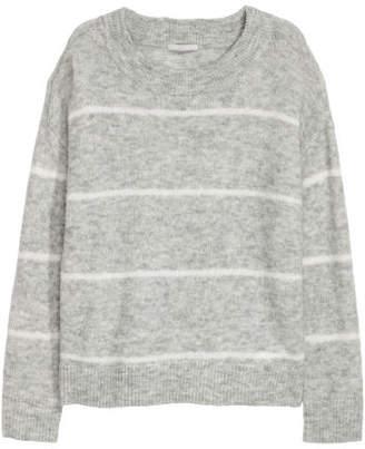 H&M Wool-blend Sweater - Gray