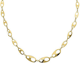 QVC 14K Modern Marine Link Necklace, 8.35g