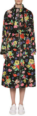 Moncler Long Heart & Flower Raincoat