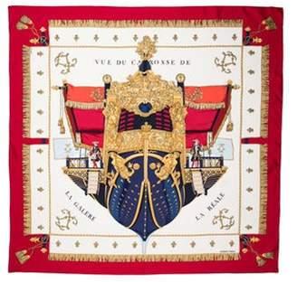 Vue Hermà ̈s du Carosse de la Galà ̈re la Réale Silk Scarf Red Hermà ̈s du Carosse de la Galà ̈re la Réale Silk Scarf