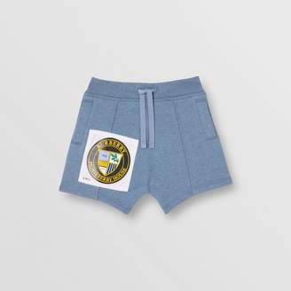 Burberry Patch Detail Cotton Drawcord Shorts