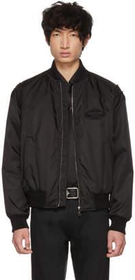 Prada Black Gabardine Bomber Jacket