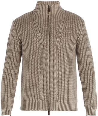 Iris von Arnim Lucas high-neck zip-through cashmere cardigan