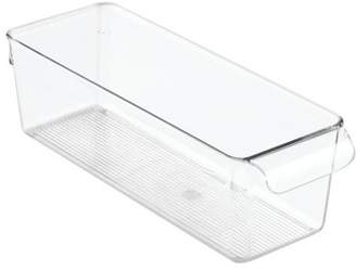 InterDesign Linus Kitchen, Pantry, Refrigerator or Freezer Organizer Storage Bin, Clear