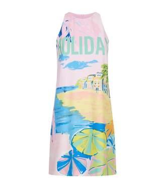 Moschino Holiday Print Shift Dress