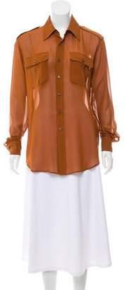 BLK DNM Silk Button-Up Top
