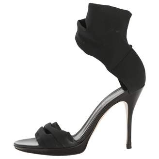 Gianvito Rossi Black Cloth Sandals