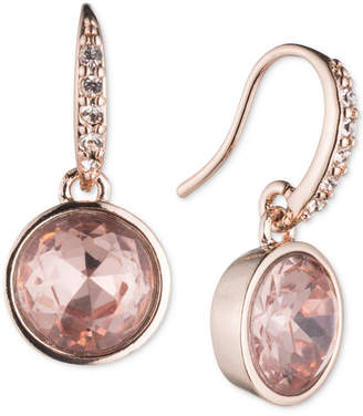 lonna & lilly Rose Gold-Tone Pink Stone Drop Earrings
