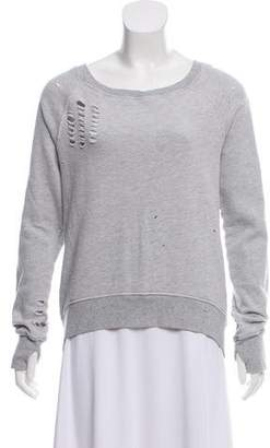 Pam & Gela Distressed Zippered Sweater