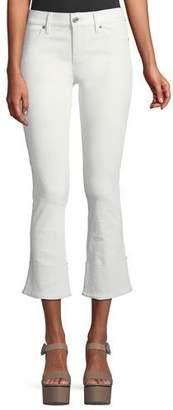 RtA Duchess Cuffed Flare-Leg Leather Pants