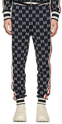Gucci Men's GG Supreme Knit Cotton Jogger Pants