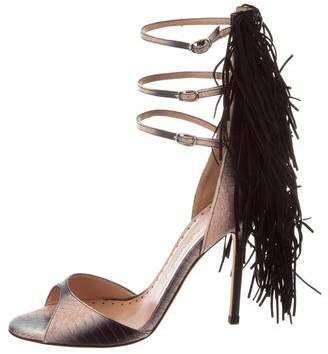 Alexa Wagner Aurinia Snakeskin Sandals w/ Tags