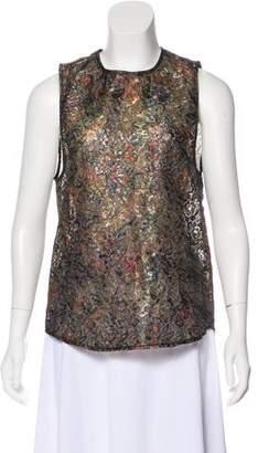 Roseanna Metallic Sleeveless Top