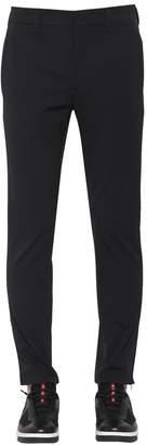 Prada 18cm Stretch Nylon Straight Leg Pants