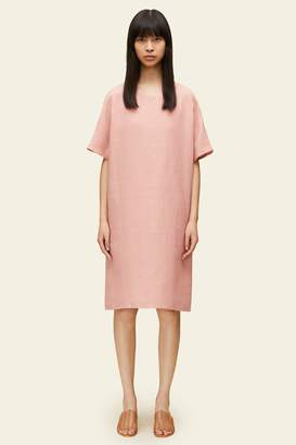 Mansur Gavriel Linen Short Sleeve Dress