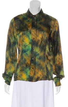 Jean Paul Gaultier Long Sleeve Button-Up Blouse