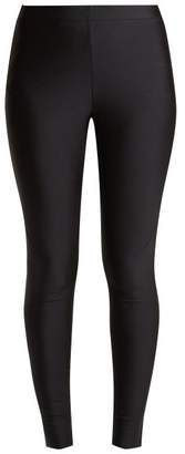 Gucci Side Stripe Logo Jacquard Jersey Leggings - Womens - Black