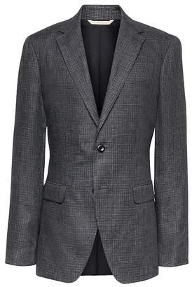 Banana Republic Heritage Slim Irish Check Linen Suit Jacket