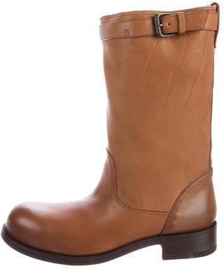 Bottega VenetaBottega Veneta Leather Mid-Calf Boots