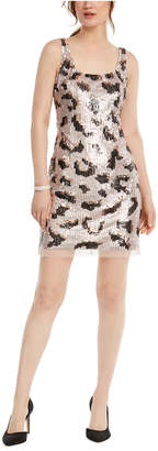 Adrianna Papell Animal-Sequin Shift Dress