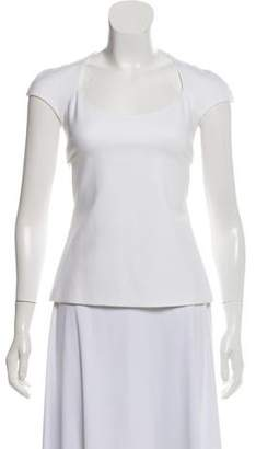Cushnie et Ochs Cutout Short Sleeve Top w/ Tags