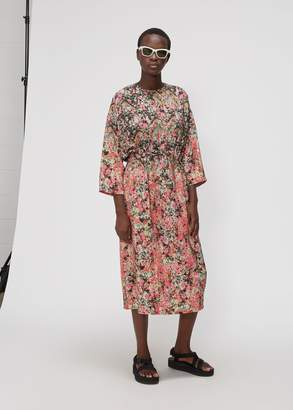 Anntian 3/4 Sleeve Floral Print Dress