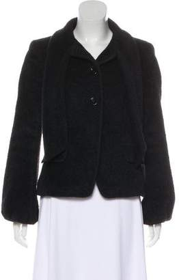 Max Mara Alpaca & Wool-Blend Structured Jacket