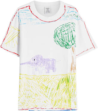 Vetements Elephant River Printed Cotton T-Shirt