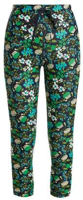 The Upside Power Compression Performance Cropped Leggings - Womens - Navy Print