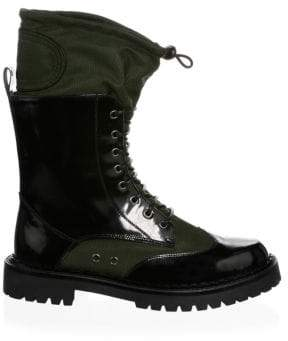 Moschino Military Lace-Up Boots