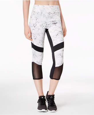 Material Girl Juniors' Cropped Illusion-Contrast Leggings