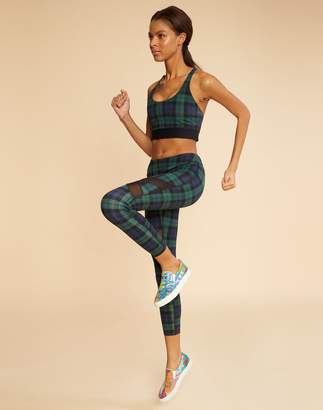 Cynthia Rowley Plaid Sports Bra