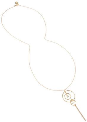 BCBGeneration Delicate Multi Circle Pave Bar Pendant Necklace