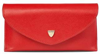 Aspinal of London Leather Sunglasses Case In Scarlet Saffiano