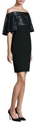 Aidan Mattox Off-The-Shoulder Popover Dress