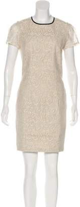 L'Agence Lace Sheath Dress Beige Lace Sheath Dress