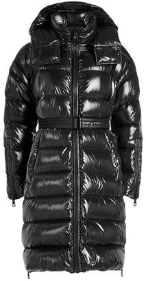 Moncler Amelanchier Quilted Down Coat with Hood