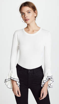 Milly Layered Ruffle Sleeve Pullover