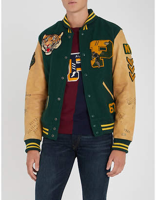 Polo Ralph Lauren Letterman wool-blend and leather jacket