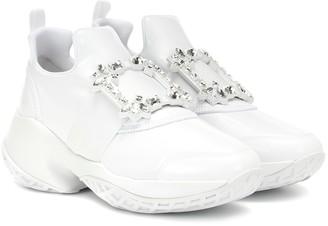 Roger Vivier Viv' Run leather-trimmed sneakers
