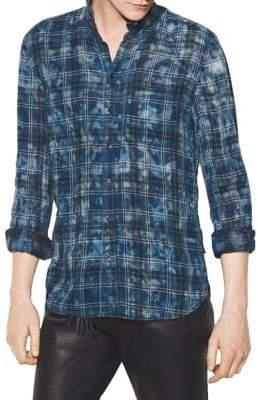 John Varvatos Reversible Plaid Button-Down Shirt