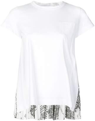 Sacai paisley rear printed T-shirt